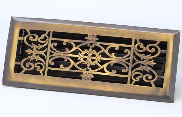 Decorative Floor Register Antique Brass Architecturals Net
