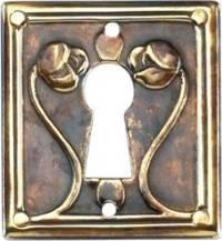 Art Nouveau Keyhole Cover Antique Brass Architecturals Net