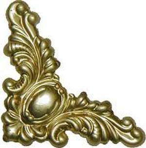 Decorative corner 1 1 2 brass for Picture frame corners