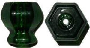 Glass Knob - Dark Green - 1-3/16""