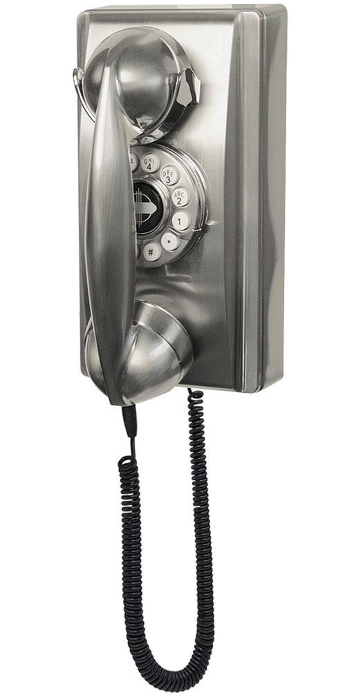 Crosley 302 Wall Phone Brushed Chrome