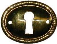Antique Brass Keyhole Cover Architecturals Net